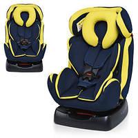 Детское автокресло M 3678-2 сине-желтый цвет, фото 1