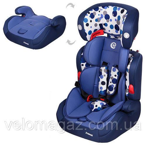 Дитяче автокрісло El Camino ME 1008-3 JUNIOR синій колір