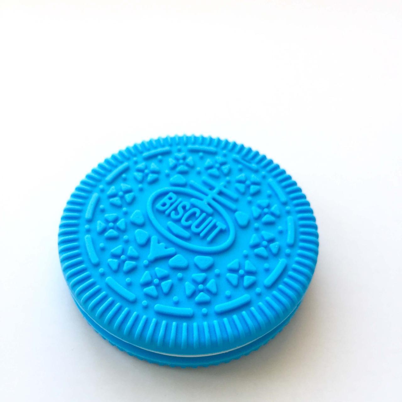 Печенько (голубой) силиконовый прорезыватель для зубов