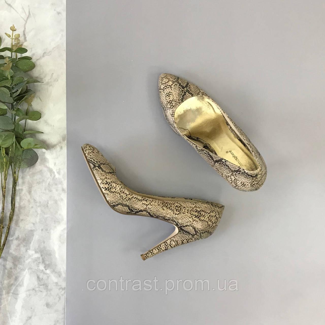 Туфли-лодочки со змеиным принтом  SH1845198
