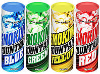 Цветной дым, набор из 4-х дымов, 35 сек., дым зеленый, жёлтый, красный, синий