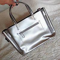 Кожаная сумка  KT32274 кожаные сумки Украина , серебро, фото 1