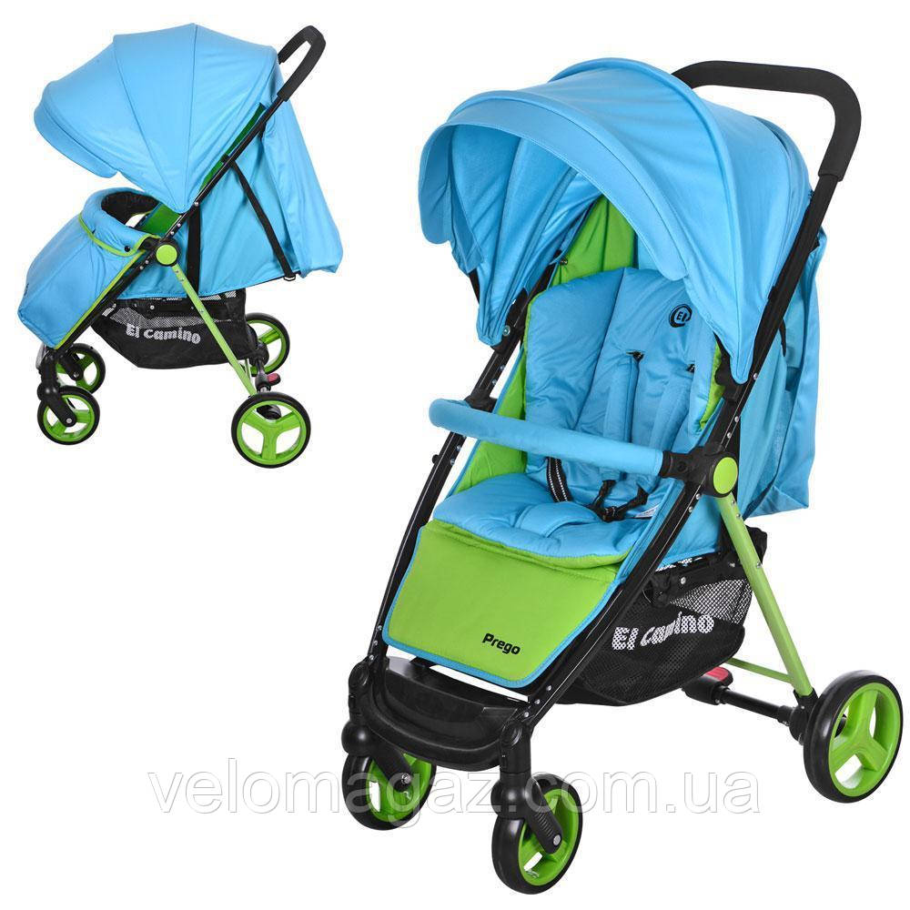 M 3435-12 PREGO детская прогулочная коляска голубая