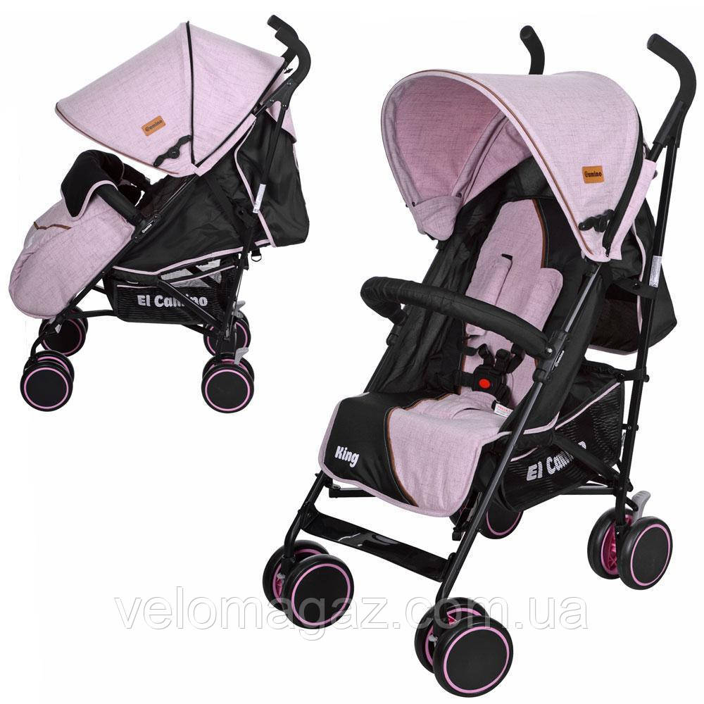 M 3427-8 KING детская прогулочная коляска розовая