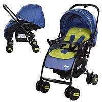 GOLF M 3429L-3 детская прогулочная коляска синяя, фото 1
