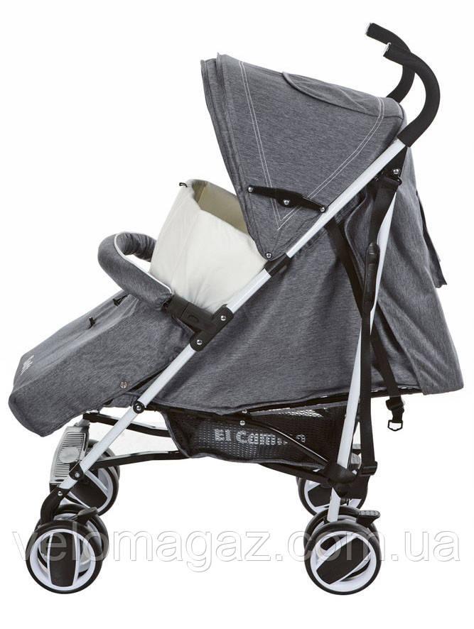 M 3432-1 SOFT детская прогулочная коляска серая