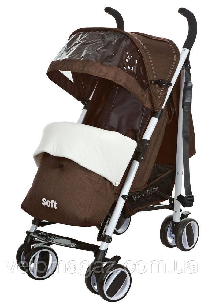 M 3432-2 SOFT дитяча прогулянкова коляска шоколадного кольору
