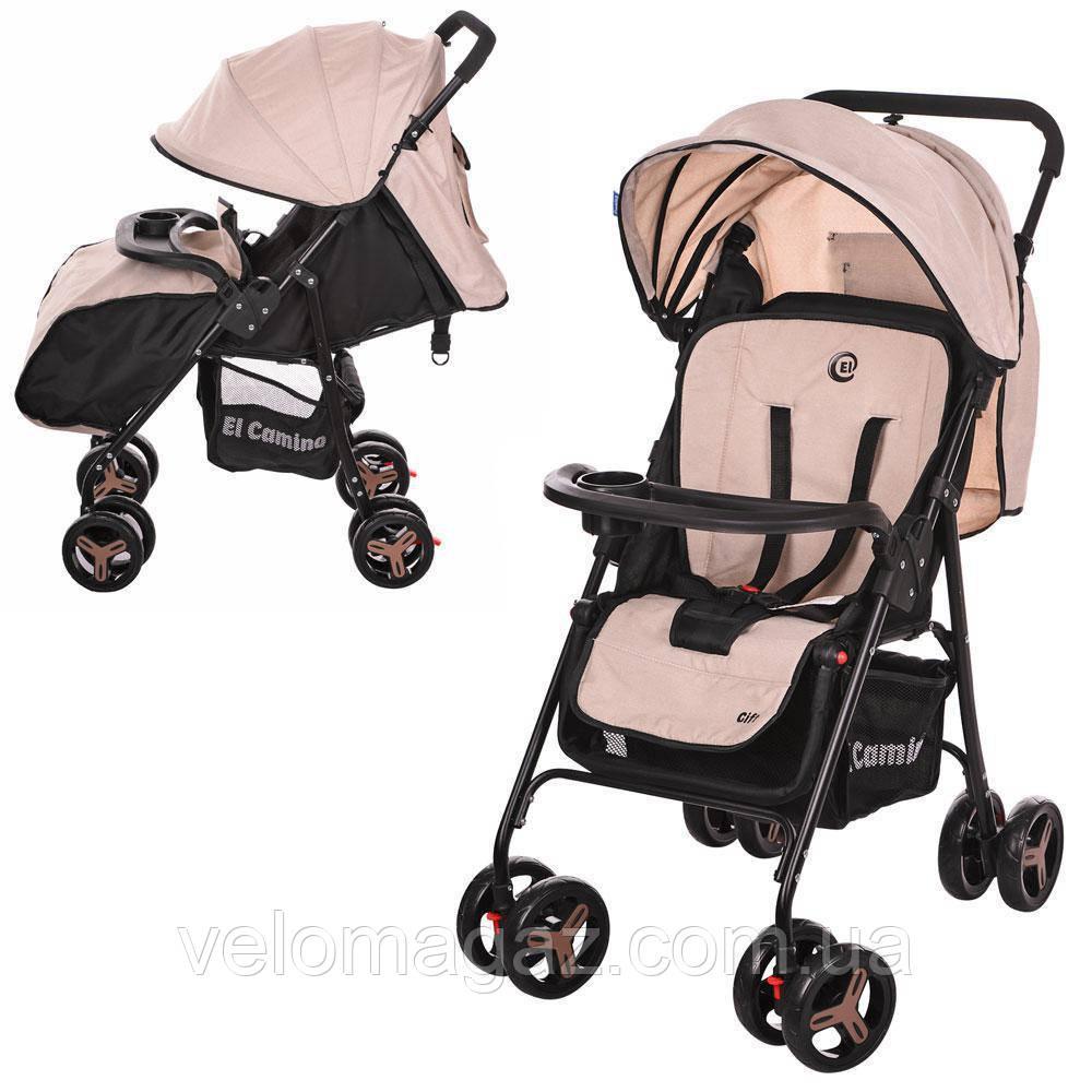 M 3443L-13 GIFT детская прогулочная коляска бежевая