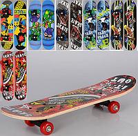 Детский скейт принт, с двух сторон