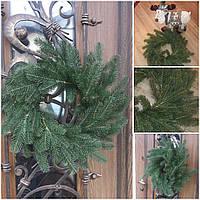 Рождественский декоративный веночек, материал - пластик, 40-45 см., 290/260 (цена за 1 шт. + 30 гр.), фото 1