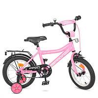 """Детский велосипед PROF1 Y14106 Top Grade 14"""" двухколесный, розовый"""