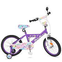 """Детский велосипед PROF1 L18132 Butterfly 18"""" двухколесный, фиолетовый"""