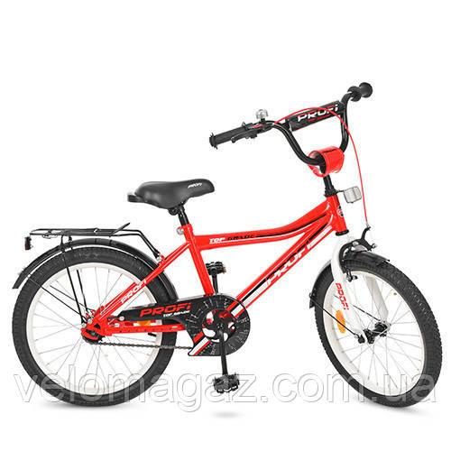 """Дитячий велосипед PROF1 Y20105 Top Grade 20"""" двоколісний, червоний"""
