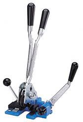 Купить натягувач, кліщі, ножиці, комбінований пристрій для поліпропіленової стрічки з гарантією 12 місяців на весь інструмент для упаковки