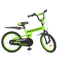 """Детский велосипед PROF1 L20113 Driver 20"""" двухколесный, салатовый"""