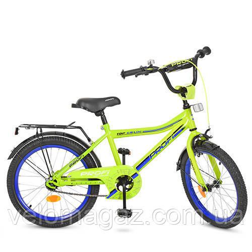 """Детский велосипед PROF1 Y20102 Top Grade 20"""" двухколесный, салатовый"""