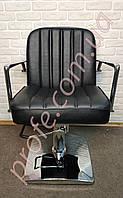 Парикмахерское кресло на гидравлической помпе ZD-323, черный, фото 1