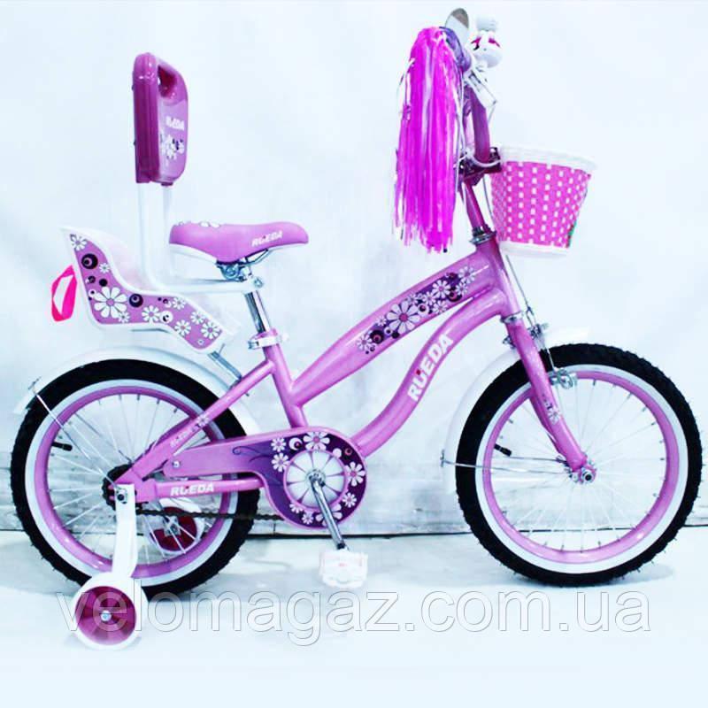 Велосипед дитячий двоколісний RUEDA 14-03B з батьківською ручкою