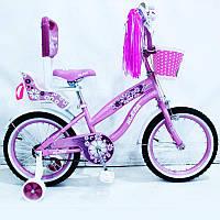 Велосипед дитячий двоколісний RUEDA 14-03B з батьківською ручкою, фото 1