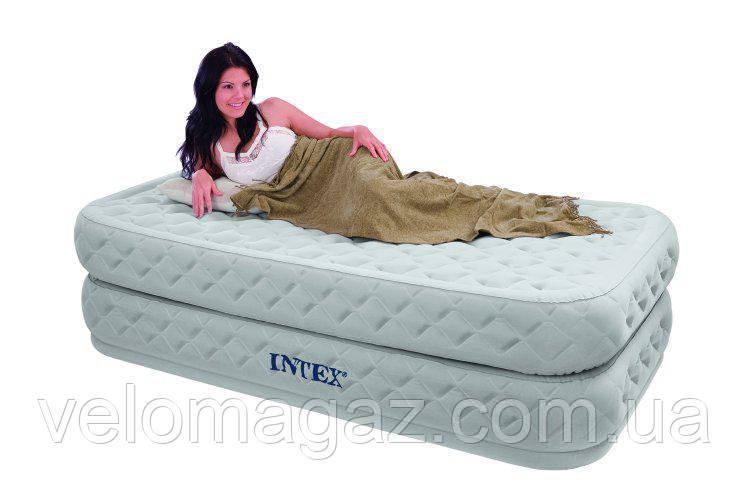 Односпальне надувна ліжко Intex 64462 з вбудованим насосом