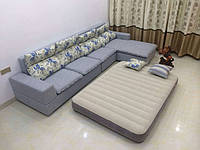 Надувной двуспальный велюр матрас Intex 64103