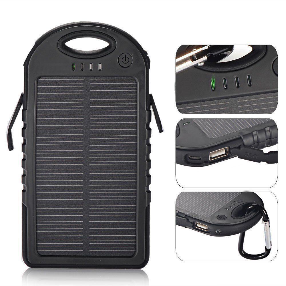 2 USB +СОЛНЕЧНАЯ батарея!! Power Bank Solar 20 000mAh (пауэр банк) Внешнее зарядное устройство- паурбанк