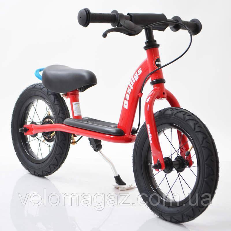 Дитячий стильний беговел 12B-10 Red (на спицях)