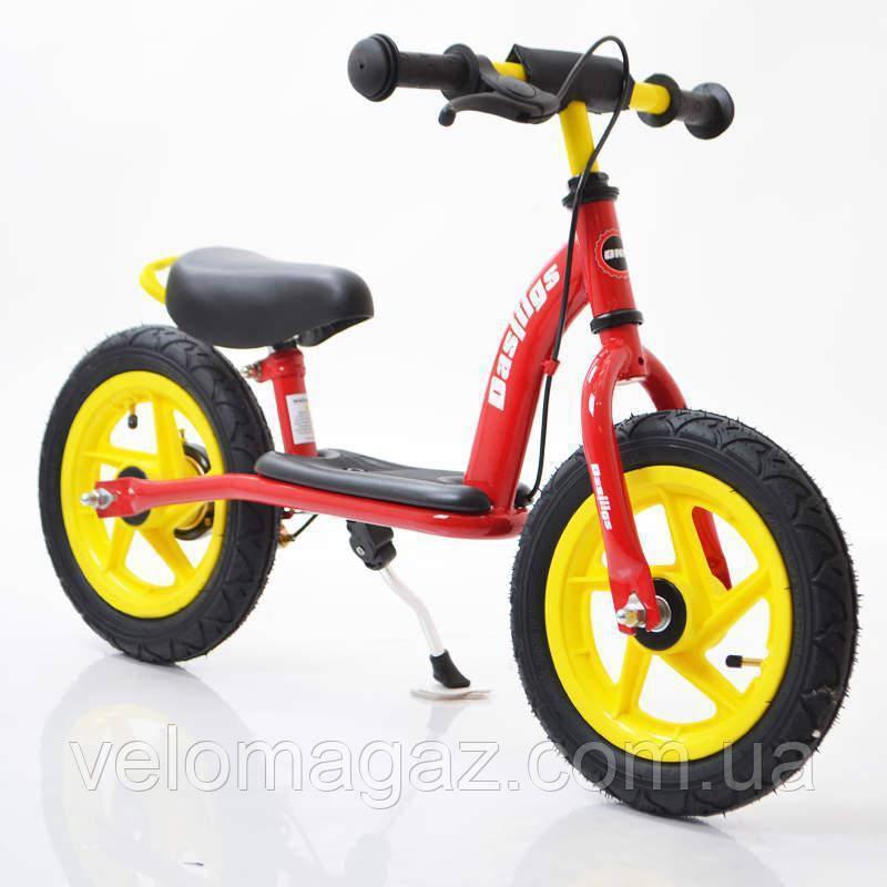 Детский стильный беговел 12B-10 Red-yellow
