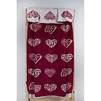 Плед Lotus Mono - Sweet Love красный 135*175 см