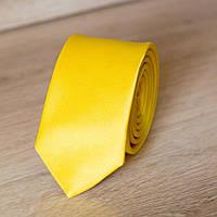 Галстук мужской узкий желтый однотонный | Lan Franko. Арт.: GMUO014