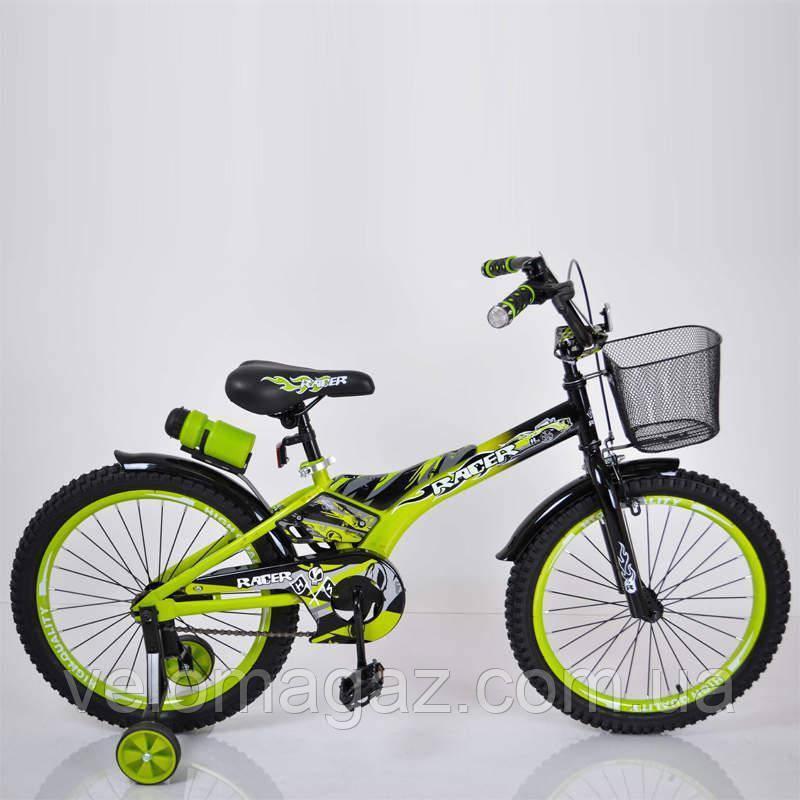 """Детский велосипед SIGMA RACER 18"""" зеленый"""
