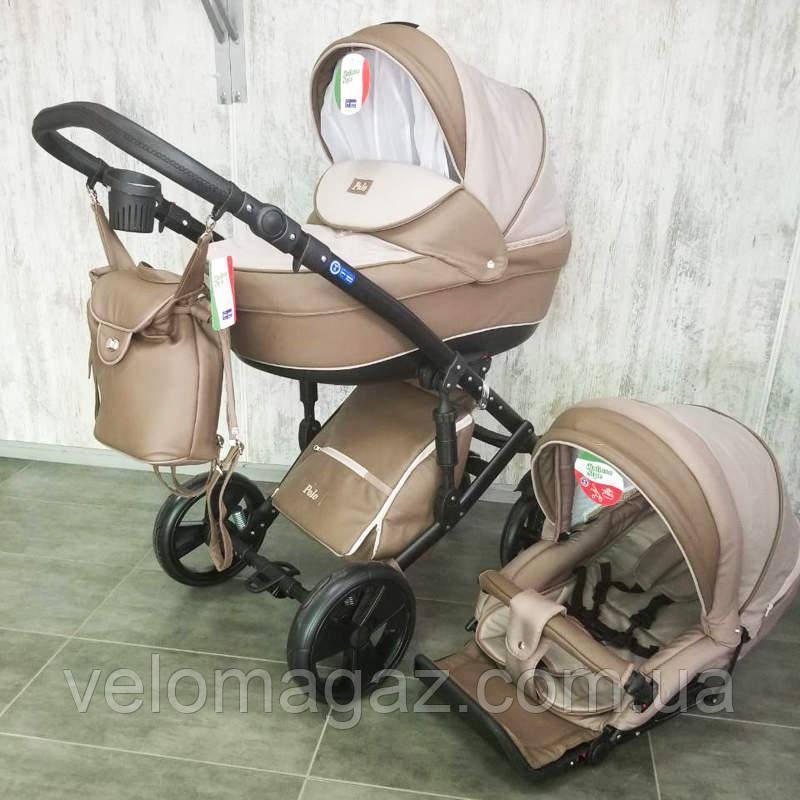 """Всесезонная детская коляска 2 в 1 """"POLO"""" бежевая"""
