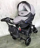 "Всесезонна дитяча коляска 2 в 1 ""POLO"" чорно-сіра, фото 1"
