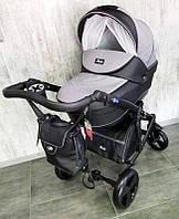 """Всесезонная детская коляска 2 в 1 """"POLO"""" черно-серая, фото 1"""