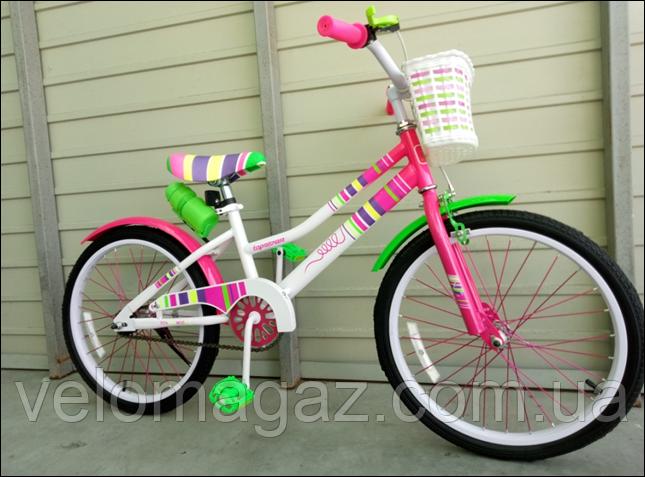 """Велосипед стильный детский TopRider """"Litlle Miss"""" 20"""" розовый"""