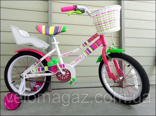 """Велосипед стильний дитячий TopRider """"Litlle Miss"""" 16"""" рожевий"""
