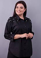 Магда. Повседневная рубашка для офиса больших размеров. 58-60, 62-64