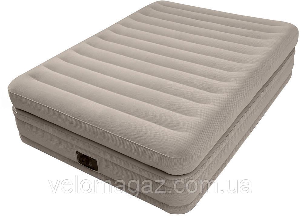 Надувная кровать двухспальная 203*152*51 с встроенным насосом Intex 64446