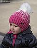 Детская шапка Акварель. Зимняя, флис. р.48-52. 2-5 лет. Св.мята, клубника, малина, пудра+молоко