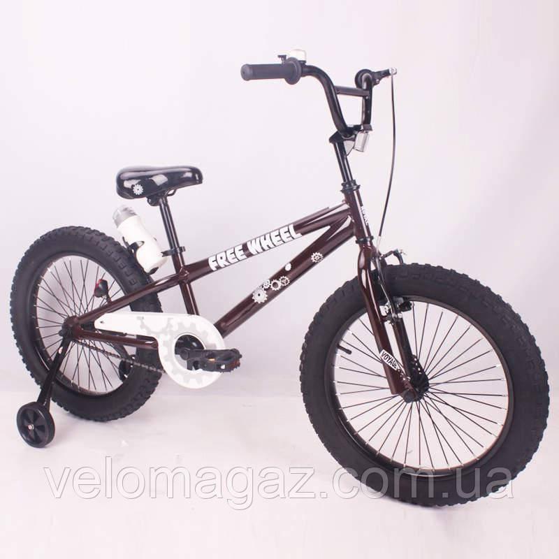 """Детский велосипед SIGMA FREE WHEEL-20"""" кофейный"""