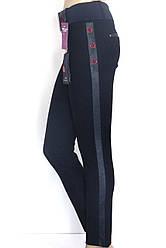 штани з шкіряними лампасами і вишивкою Esparanto