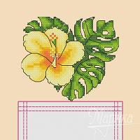 """Набор для вышивания крестиком на одежде """"Тропический цветок"""" НКВ-009"""