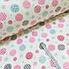 Фланелевая ткань кружочки розовые и голубые на белом (шир. 2,4 м), фото 2