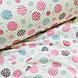 Фланелевая ткань кружочки розовые и голубые на белом (шир. 2,4 м), фото 4