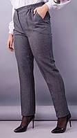 Элия. Женские батальне брюки в классическом стиле. Серый. 62. 64