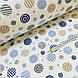 Фланелевая ткань кружочки синие и бежевые на белом (шир. 2,4 м), фото 3