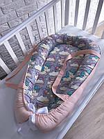 Гнездышко кокон с ручками для новорождённых «Грильяж»