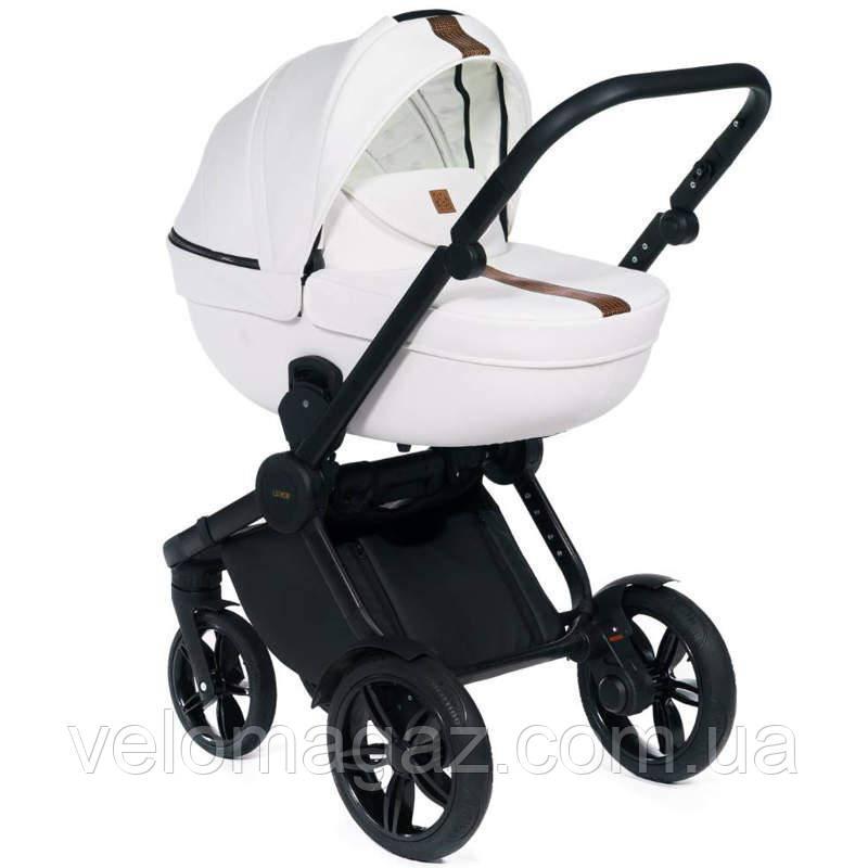 Dada Paradiso Luxor, всесезонная детская коляска 2 в 1, белая