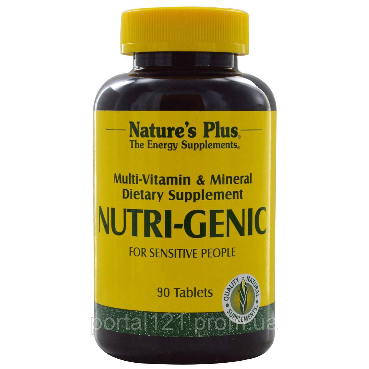 Мультивитамины для Поддержания Энергии, Nutri-Genic, Natures Plus, 90 таблеток