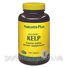 Ламинария, Натуральный Йод, Natures Plus, 300 таблеток
